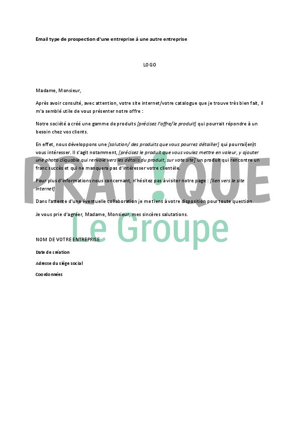 exemple lettre prospection nouveaux clients