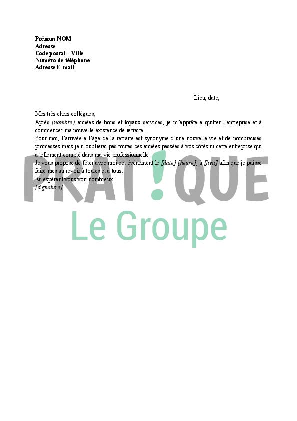 Invitation A Feter Un Depart En Retraite Pratique Fr