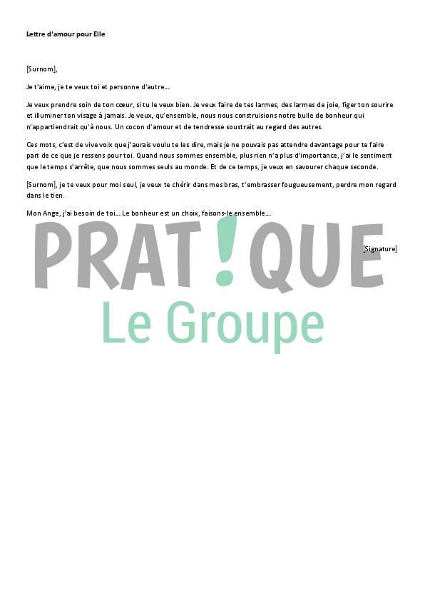 Lettre Damour Pour Elle Pratiquefr