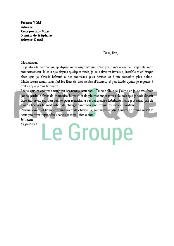 Lettre d'amour pour exprimer un regret | Pratique.fr