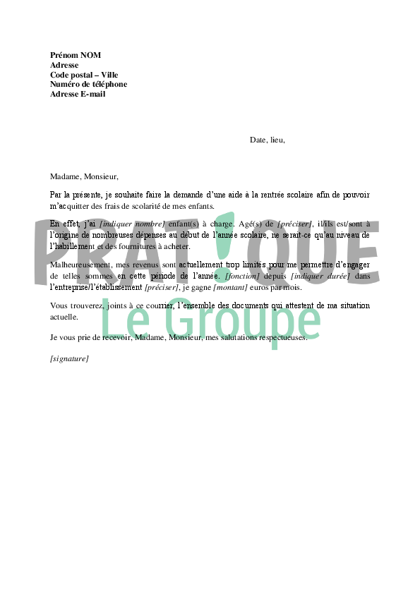 Caf Fr Aide Rentree Scolaire