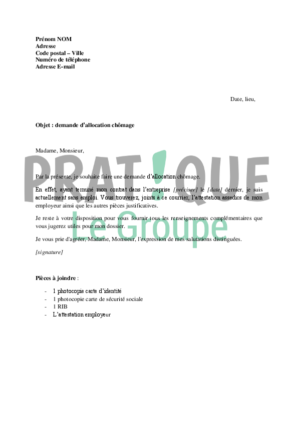 modele de lettre demande d inscription r u00e9troactive pole