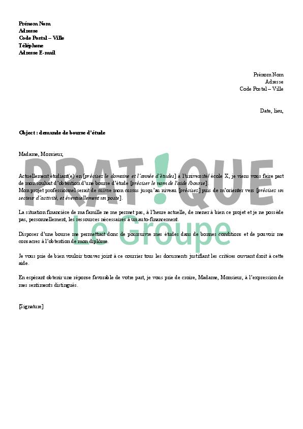 lettre de demande de diplome du bac