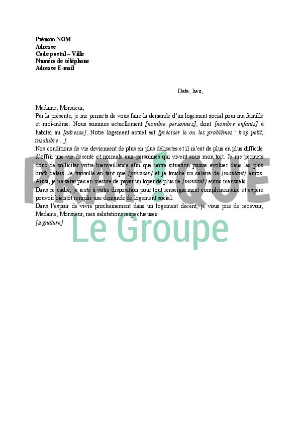 modele de lettre pour un logement au maire Lettre de demande de logement social | Pratique.fr modele de lettre pour un logement au maire