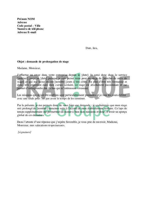 Lettre De Demande De Stage Urbanisme | Job Application Letter