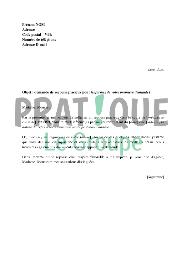 Caf Adresse Recours