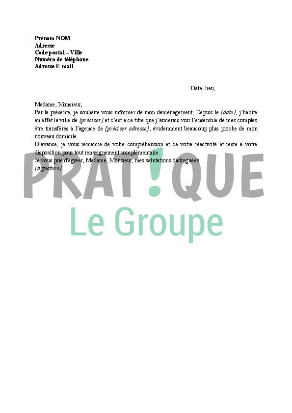 lettre de demande de transfert d u0026 39 agence bancaire