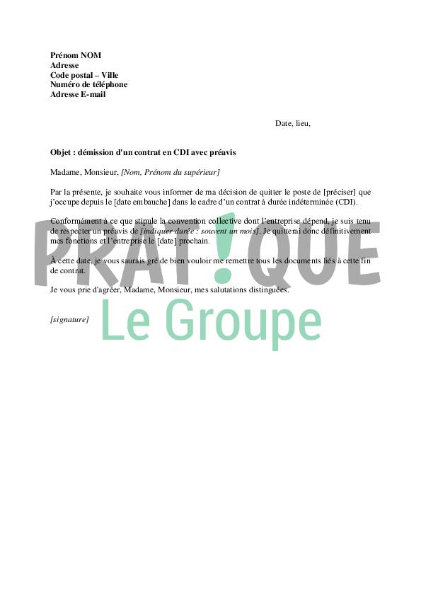 lettre de demission cdi cuisinier Lettre de demission cadre finir un courrier | Degisco lettre de demission cdi cuisinier