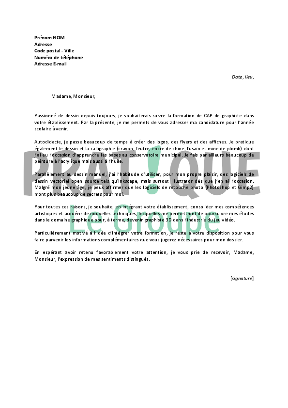 lettre de motivation pour formation qualifiante