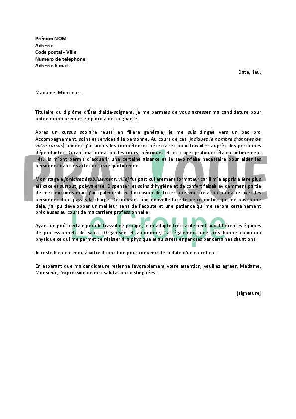 lettre de motivation pour un emploi d u0026 39 aide