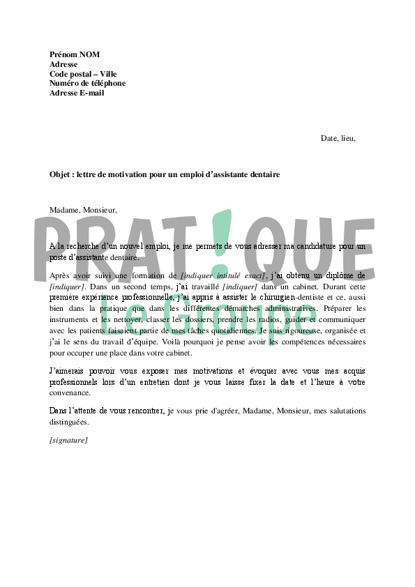 lettre de motivation formation professionnelle pdf