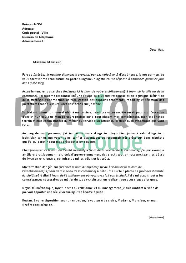 lettre de motivation pour un emploi d u0026 39 ing u00e9nieur