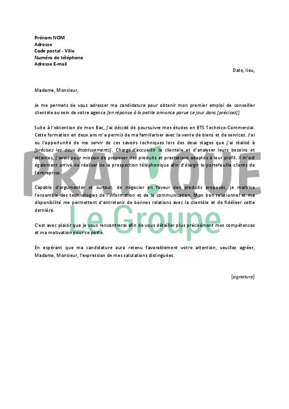 lettre motivation conseiller emploi insertion professionnelle