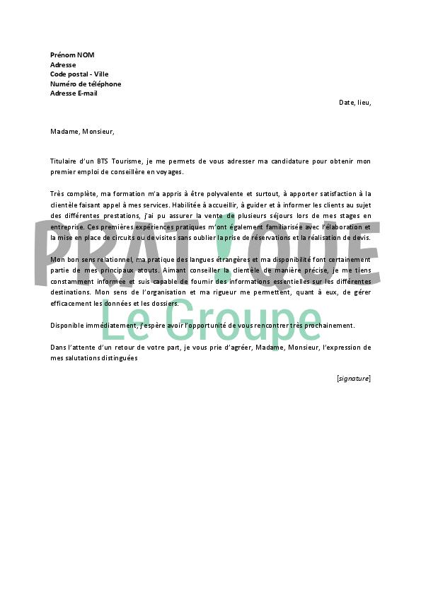 lettre de motivation pour un emploi de conseill u00e8re en