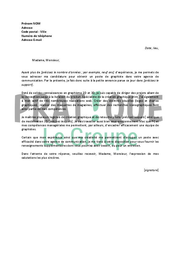 lettre de motivation graphiste ia66