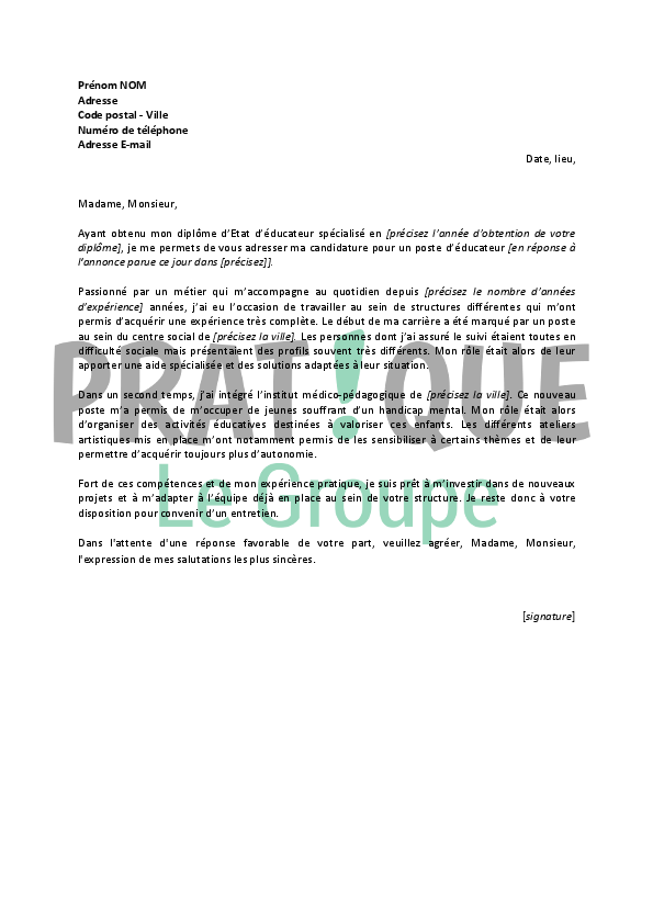 lettre de motivation handicap mu86