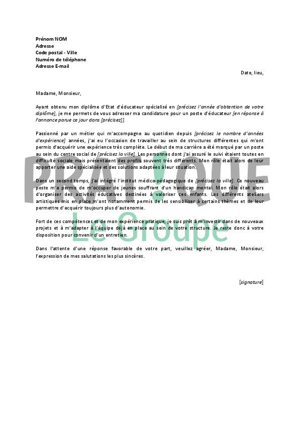 lettre de motivation job d u0026 39  u00e9t u00e9 emploi saisonnier
