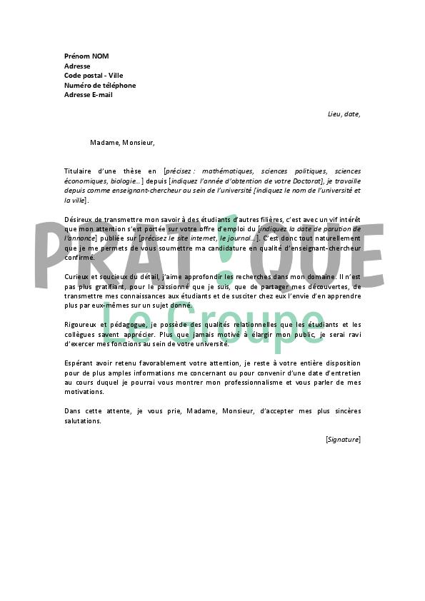 Lettre de motivation, help  Travail  FORUM Vie Pratique