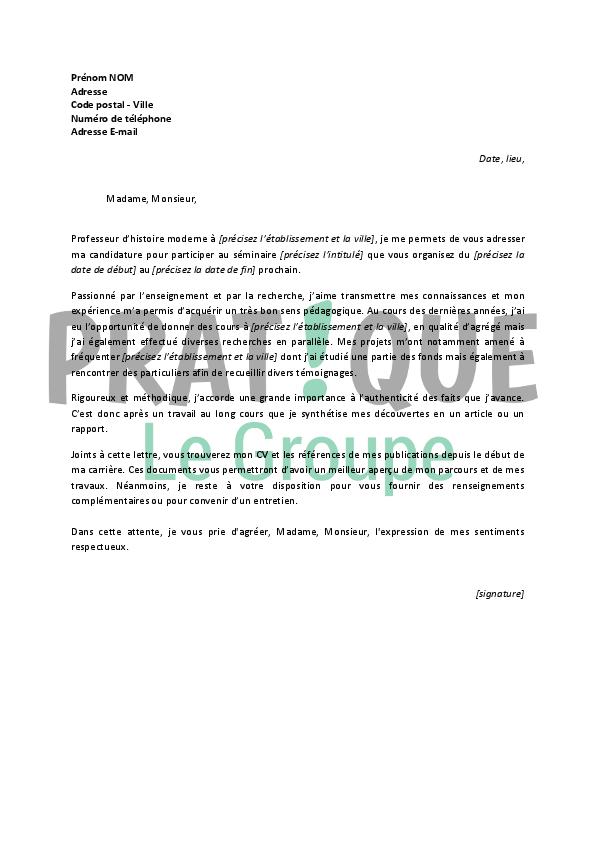 lettre de motivation pour un emploi d u2019historien confirm u00e9