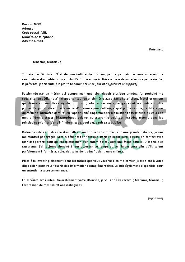 lettre de motivation pour un emploi d u2019infirmi u00e8re