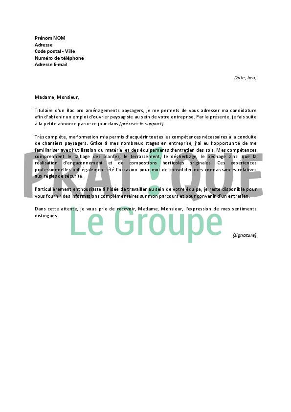 Lettre de motivation jardinier lettre de motivation 2018 for Emploi espace vert bourgogne