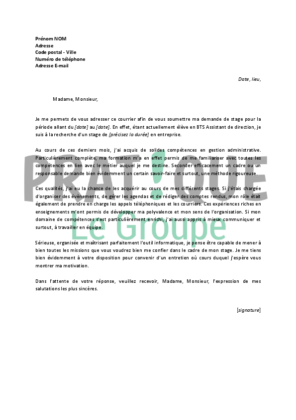 lettre de motivation assistant gestion administrative