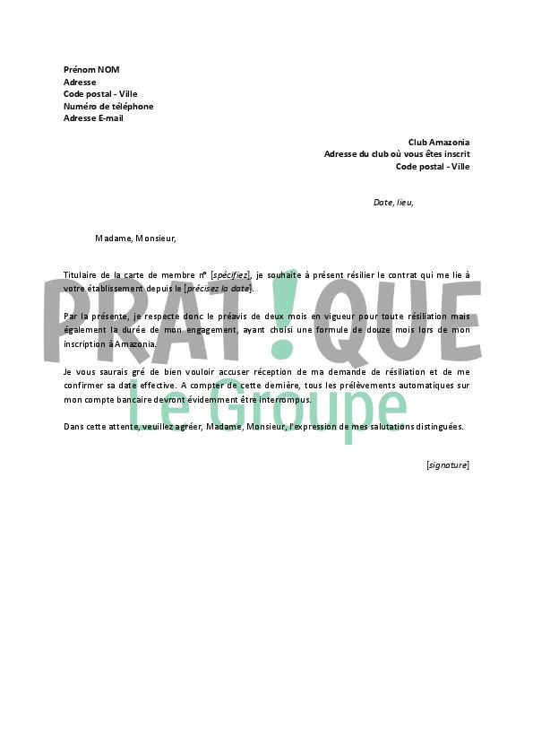 lettre de r 233 siliation amazonia pratique fr