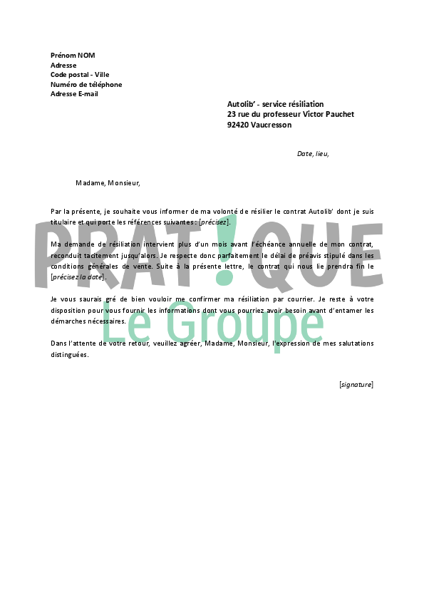 lettre de r u00e9siliation autolib u0026 39