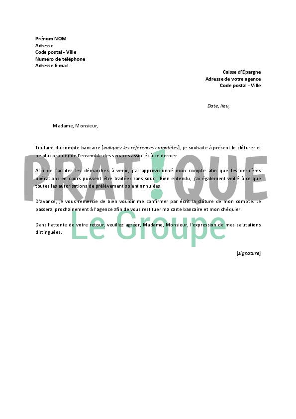 lettre de r u00e9siliation caisse d u0026 39  u00c9pargne