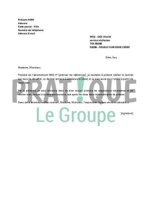 lettre de r u00e9siliation mk2