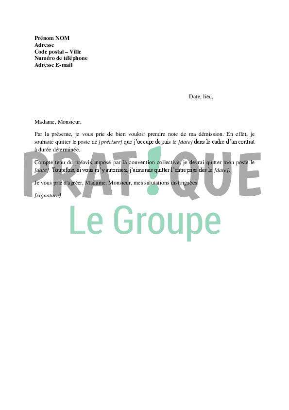 Lettre de rupture d'un CDD sans préavis | Pratique.fr