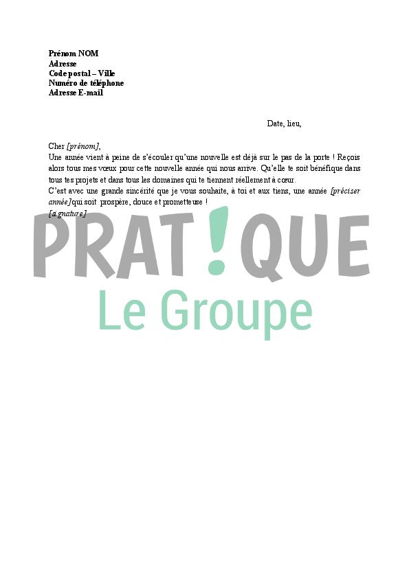 Top Lettre de vœux pour le Nouvel An à un collègue | Pratique.fr UI32