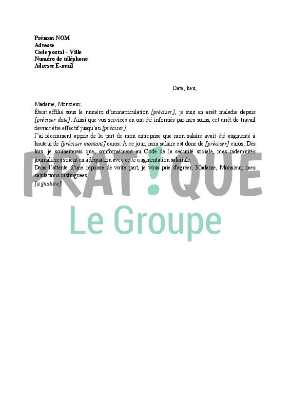 lettre revalorisation des indemnit u00e9s journali u00e8res