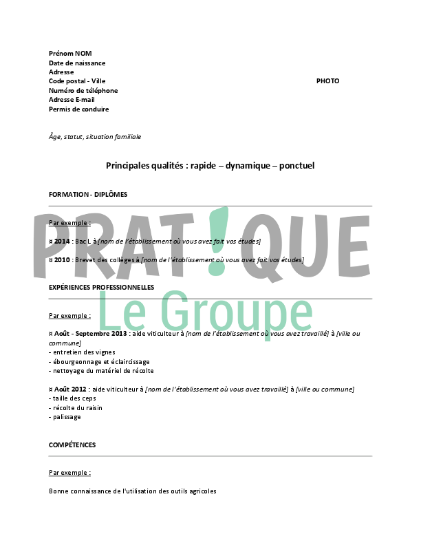 job etudiant septembre