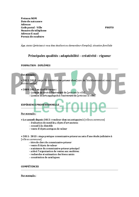resume format  mod u00e8le curriculum vitae gratuit  u00e9tudiant