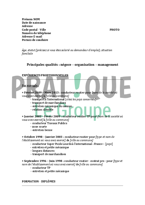 Un Cv Format Oker Whyanything Co