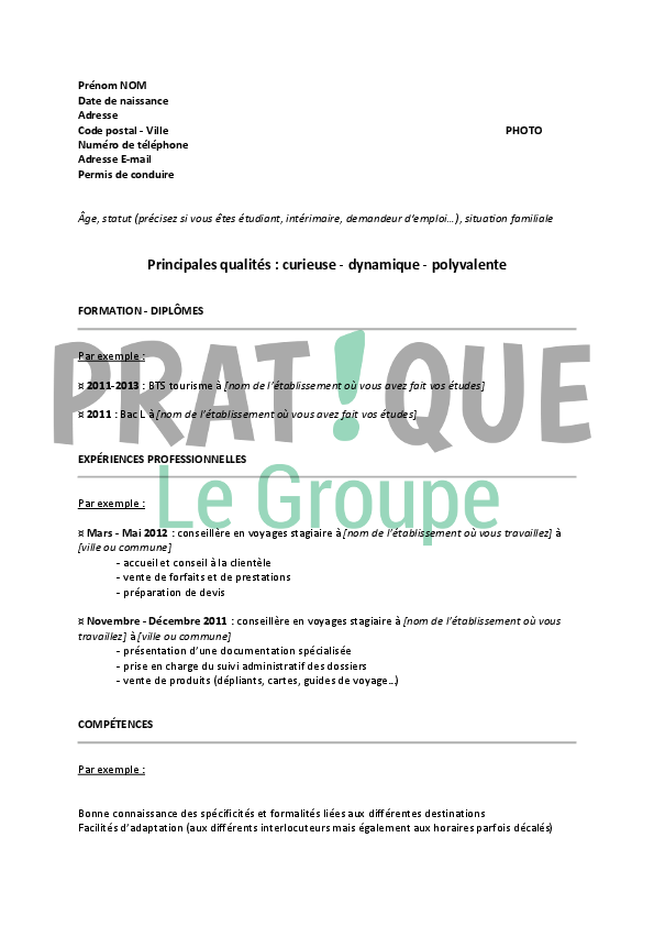 Modele cv billettiste cv anonyme - Cabinet de recrutement grande distribution ...