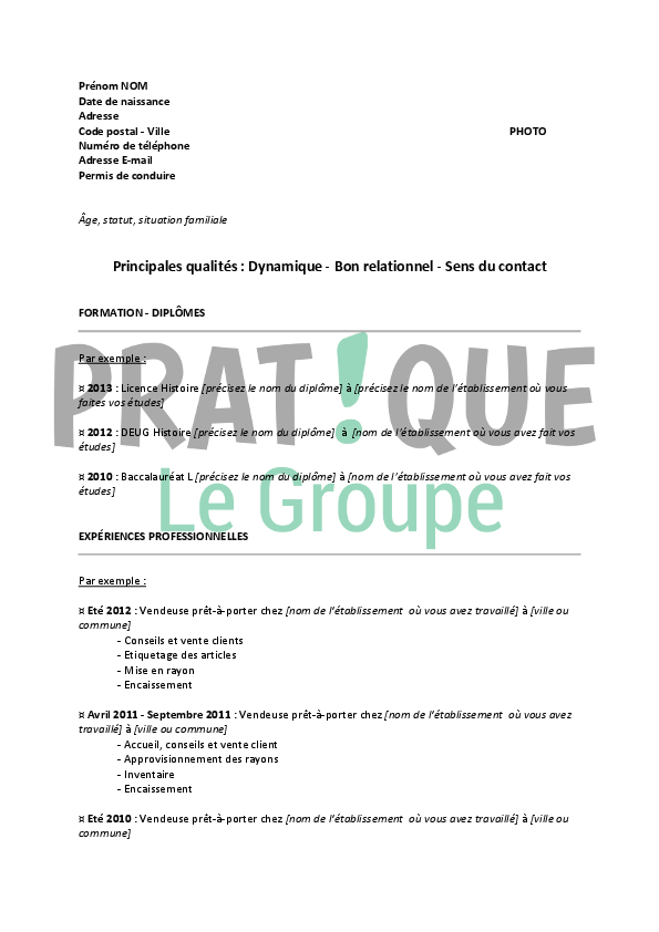lettre de motivation job  u00e9tudiant vendeuse pret a porter