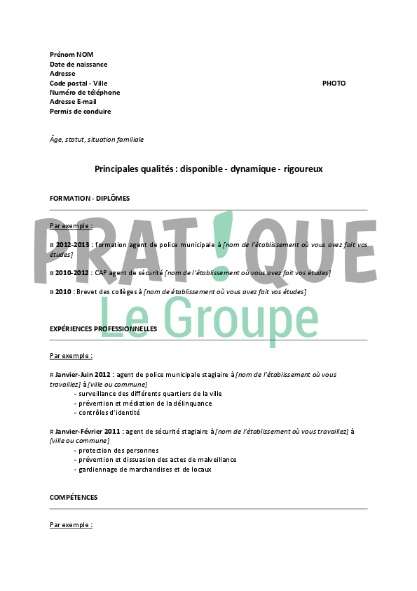 exemple lettre de motivation police municipale