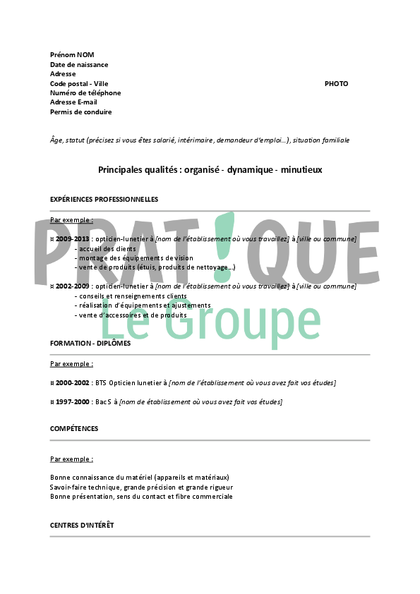 responsable magasin opticien lunetier