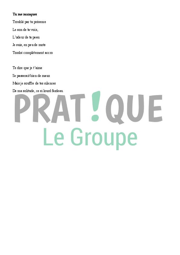 Poème Damour Modèle 2 Pratiquefr