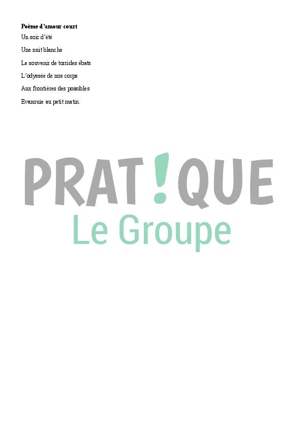 Poème Damour Court Pratiquefr