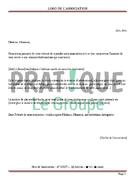 Lettre d'invitation à une réunion d'informations (association)