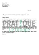 Lettre de candidature pour un emploi d'adjoint administratif 2ème classe