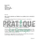 Lettre de demande d'adhésion à une association