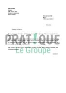 Lettre de résiliation carte Plus Alinéa | Pratique.fr