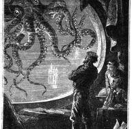 """Illustration de l'œuvre de Jules Verne """"20 000 lieues sous les mers"""""""