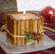 Bougies de Noël à la cannelle