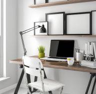 Recycler une ancienne planche repasser - Faire un bureau avec une planche ...