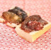 Tartines de confiture de figue